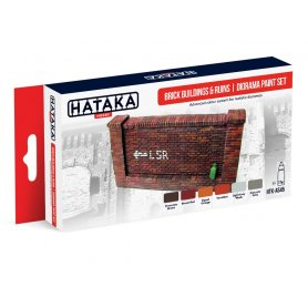 Hataka HTKAs45 Brick Buildings & Ruins- Diorama Ps