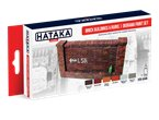 Hataka AS045 RED-LINE Paints set BRICK BUILDINGS AND RUINS