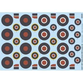 Spitfire British ww2 Roundels Late