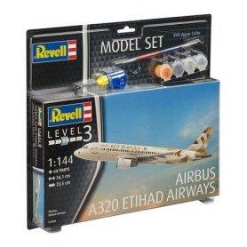 Revell 63968 1/144 Model Set Airbus A320 Etihad