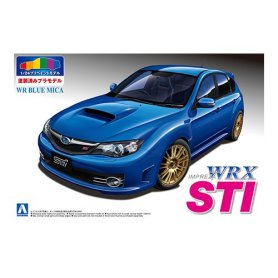 Aoshima 1:24 Subaru GRB Impreza WRX / MICA BLUE PREPAINTED