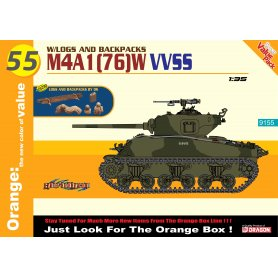 Dragon Cyber Hobby 9155 M4A1 (76) w VVSS