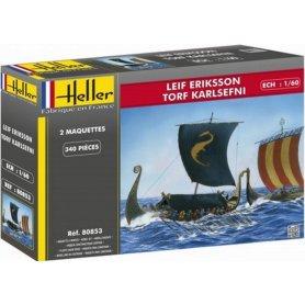 Heller 80853 ŁodzieWikingów Leif Erikson&Karlsefni