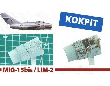 Hobby2000 1:48 MiG-15bis / Lim-2 - kokpit - malowanie i weathering