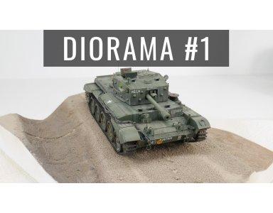 Diorama część 1: Budowa podstawki do modelu czołgu. Teren