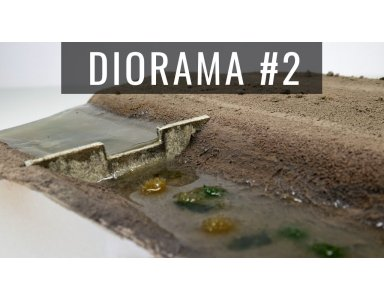 Diorama część 2: Efekt wody z żywicy. Inny sposób na realistyczne zacieki
