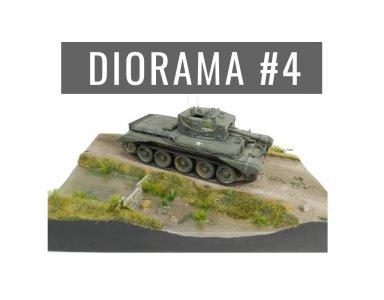 Diorama część 4: Wykończenie drogi i rośliny. Utrwalanie żywych roślin gliceryną