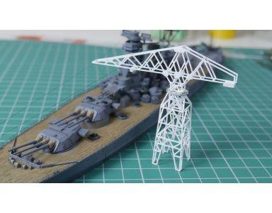 Tamiya 1:700 IJN Yamato część 14 - dźwig portowy