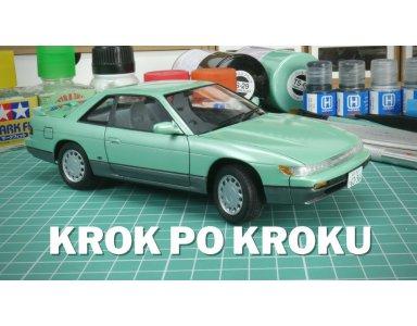 Model do sklejania samochodu Nissan Silvia S13 - budowa i malowanie